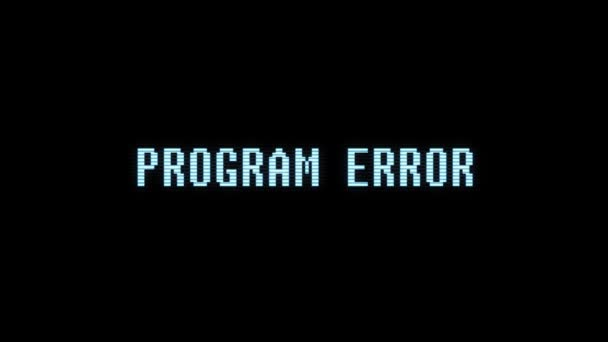 retro videogame PROGRAM ERROR text computer holographic glitch interference noise screen animation seamless loop New quality universal vintage motion dynamic animated background colorful joyful video