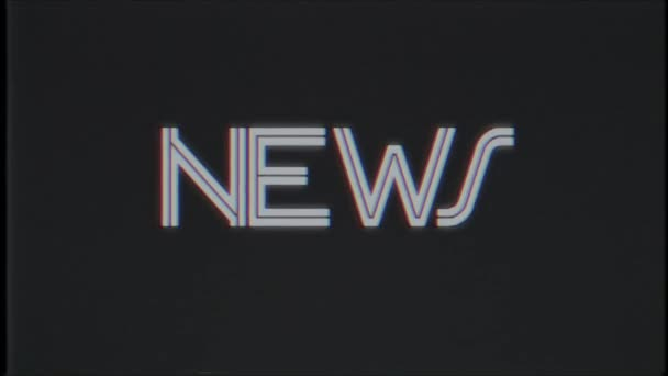 Retro NEWS text computer old tv glitch interference noise screen animation  seamless loop New quality universal vintage motion dynamic animated  background colorful joyful video