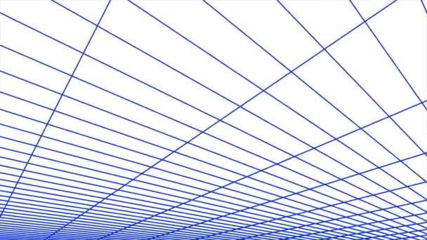 retro cyberspace rács nettó sokszögű drótváz repülés sima táj varrat nélküli hurok rajz mozgás grafikus animáció háttér új minőségű vintage stílusú hűvös szép szép 4k videofelvétel