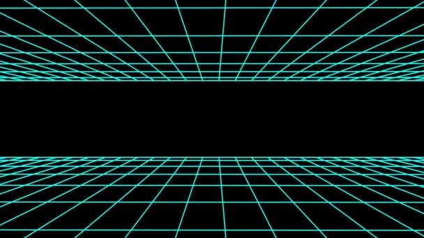 Boční letu bezešvé mřížky čisté polygonální drátový model abstraktní retro tunelu zpomalené smyčka kreslení pohyb grafika animace pozadí nové kvalitní vintage styl cool pěkné krásné 4k videozáznamu