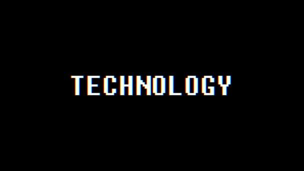 retro videojáték támogatás szó szöveg számítógép régi tv fénylik zavaró zaj képernyő animáció varrat nélküli hurok új minőségi egyetemes vintage dinamikus animációs háttér színes örömteli mozgóképes