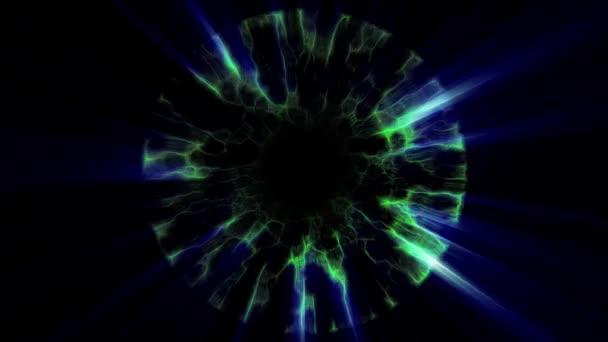 Letu z prostřednictvím Green Blue neon hyperprostoru svítidly digitální tunelu pohybu grafika animace pozadí smyčky nové kvalitní futuristický styl Super pěkné krásné videozáznam