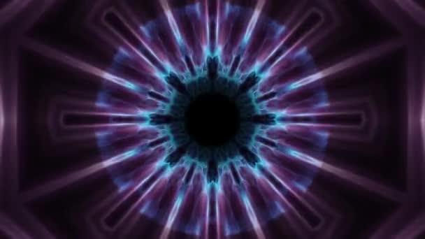 Flug in heraus durch swymmetrische Neon Hyperraumlichter digitaler Tunnel Bewegungsgrafik Overlay Animation Hintergrundschleife neue Qualität futuristischen Stil cool schön schöne Videomaterial