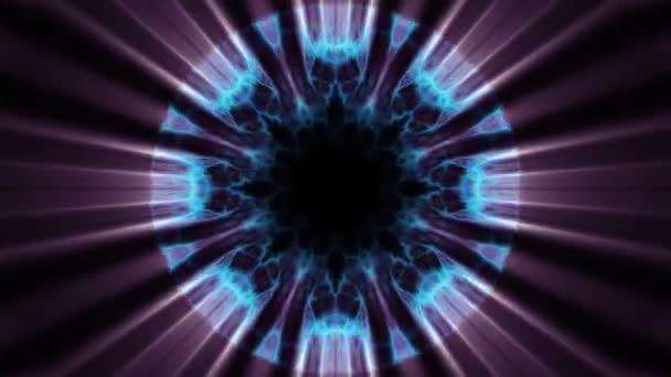 A repülés ki swymmetrical neon hiperűrbe fények digitális alagút mozgás grafikus overlay animációs háttér hurok új minőségi futurisztikus stílus cool szép szép videofelvétel