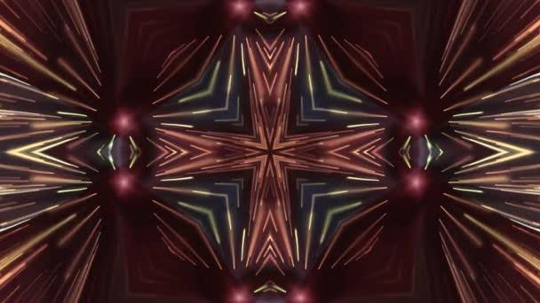 okrasné lesklé světelné paprsky kaleidoskop etnické kmenové psychedelické vzor animace abstraktní pozadí nové kvalitní retro vinobraní dovolená nativní barevné pohybu dynamické radostná Hudba video