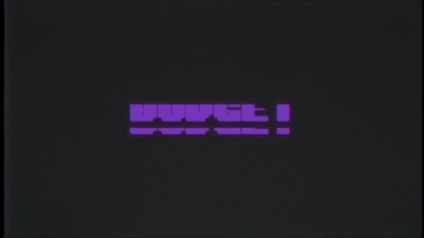 retro videojáték költségvetés szó szöveg számítógép régi tv fénylik zavaró zaj képernyő animáció varrat nélküli hurok új minőségű univerzális évjárat-motion dinamikus animációs háttér színes örömteli videóinak m