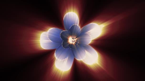 Eröffnung Blühen Lange Glänzende Leichte Blaue Blume Zeitraffer 3d