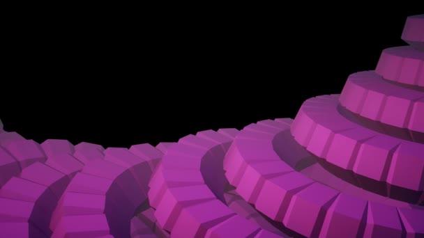 Schlange Wurm Wirbelsäule Wie 3d Zahnräder Rotierenden Mechanismus