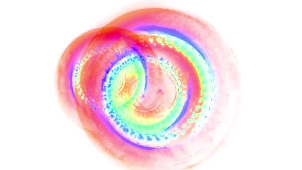 rotante pittura astratta arcobaleno ciclo senza cuciture backgrond animazione nuova qualità artistico gioiosa colorato dinamico universale cool bello riprese video in movimento