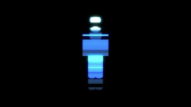 einfacher Mann Symbol Störschub Verzerrung holographischen Display Animation nahtlose Schleife Bildschirmhintergrund - animiert neue Qualität Universal nahe bis Jahrgang dynamische bunten fröhliches cooles schönes video