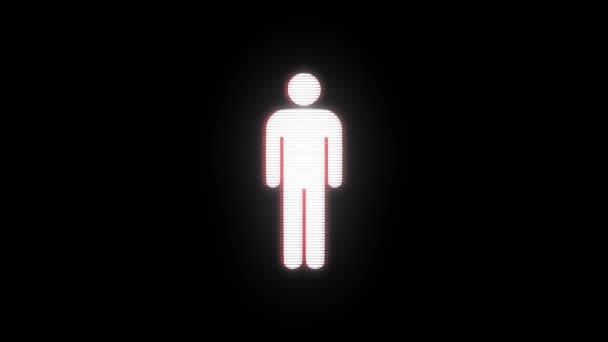 einfacher Mann Symbol Störschub Verzerrung Kamera Display Animation nahtlose Schleife Bildschirmhintergrund - animiert neue Qualität Universal nah bis Jahrgang dynamische bunten fröhliches cooles schönes video