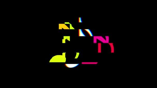 Musik Note Symbol Glitch Bildschirm Verzerrung anzeigen nahtlose Schleife Hintergrund neue universelle Qualität hautnah Vintage dynamische animierte bunte fröhliche cool schönes Video animation