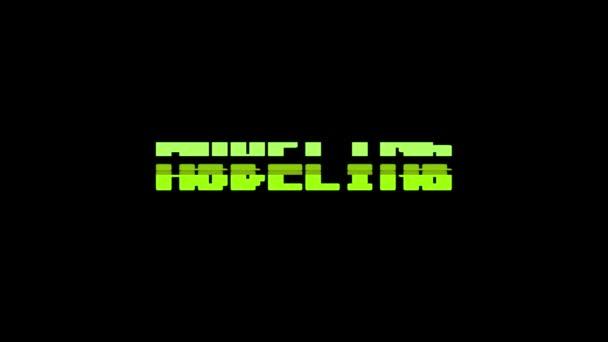 Retro videoherní modelování aplikace word text počítač tv závada rušení hluku obrazovku animace bezešvé smyčka nový kvalitní univerzální vintage pohybu dynamický animovaný pozadí barevné radostné video m