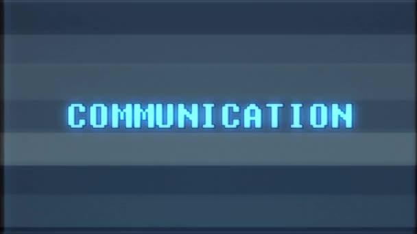 retro videojáték kommunikációs szó szöveg számítógép tv fénylik zavaró zaj képernyő animáció varrat nélküli hurok új minőségű univerzális évjárat-motion dinamikus animációs háttér színes örömteli videóinak m