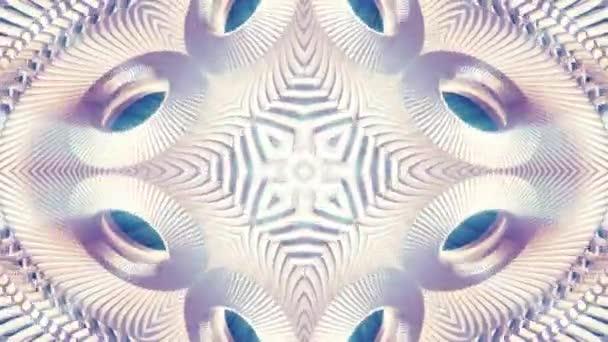 lesklé dekorativní kovový řetízek kaleidoskop bezešvé smyčka vzor animace abstraktní pozadí nové kvalitní etnické kmenové dovolená nativní univerzální pohyb dynamické Super pěkné radostné hudební video