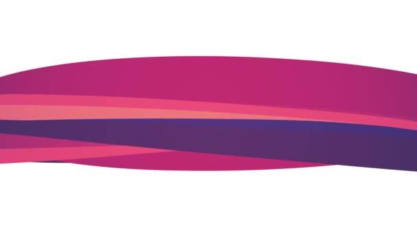 Jemné barvy plochá 3d zakřivené červené bonbony linie bezešvé smyčka abstraktní obrazec animace pozadí nové kvalitní univerzální pohyb dynamické animované barevné radostné videozáznam
