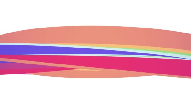 Lágy színek lapos 3d ívelt szivárvány candy vonal varrat nélküli hurok absztrakt forma animáció háttér új minőségű univerzális mozgás dinamikus animációs színes örömteli videofelvétel