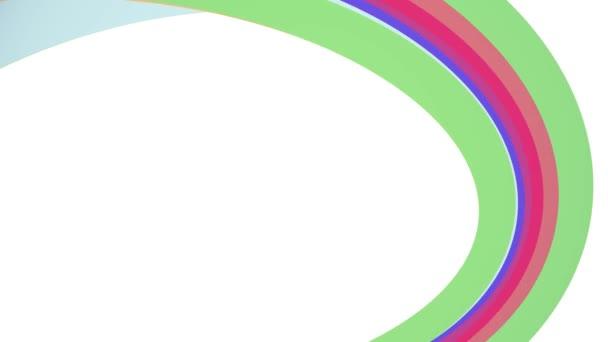 Lágy színek lapos szivárvány ívelt váz candy vonal varrat nélküli hurok absztrakt forma animáció háttér új minőségű univerzális mozgás dinamikus animált színes örömteli videofelvétel