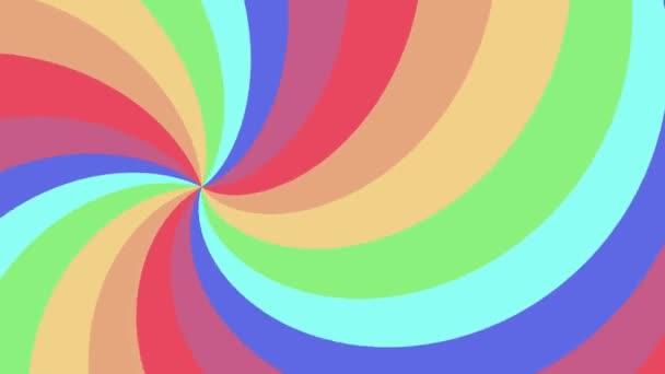 Spirální tvar duhové barvy bezešvé smyčka rotace animace pozadí nové kvalitní univerzální pohyb dynamické animované barevné radostné cool pěkné video záznam
