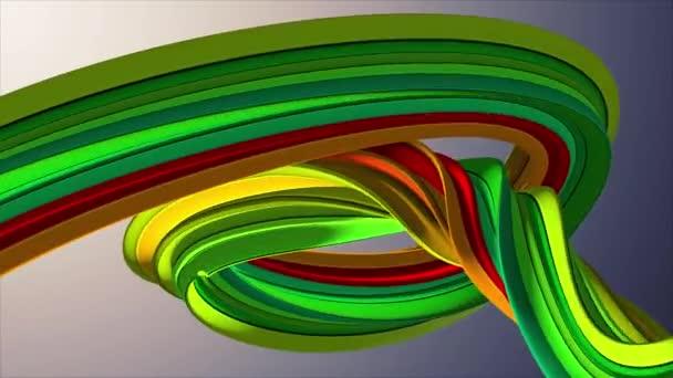 Jemné barvy 3d zakřivené marshmallow lano candy bezešvé smyčka abstraktní tvar animace pozadí nové kvalitní univerzální pohyb dynamické animované barevné radostné videozáznam
