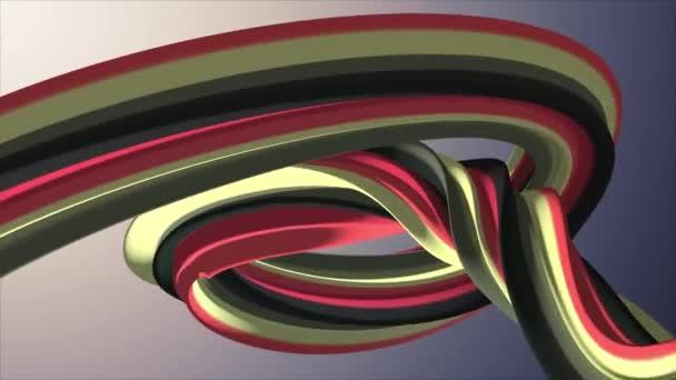 Lágy színek 3D-s görbe marshmallow kötél candy varrat nélküli hurok absztrakt forma animációs háttér új minőségi egyetemes mozgás dinamikus animált színes örömteli videofelvétel