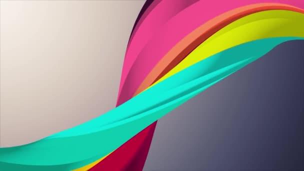 Lágy színek 3D-s görbe szivárvány marshmallow kötél candy varrat nélküli hurok absztrakt forma animáció háttér új minőségi egyetemes mozgás dinamikus animált színes örömteli videofelvétel