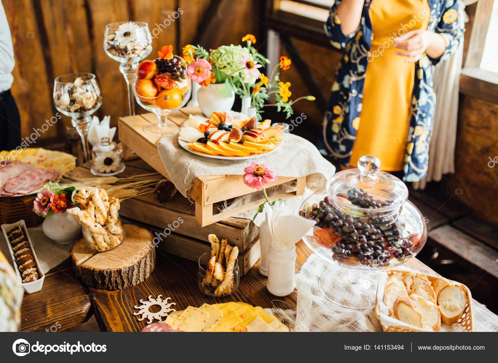 Krasne Svatebni Dekorace Podzimni Svatba V Oranzove Barvy Stock