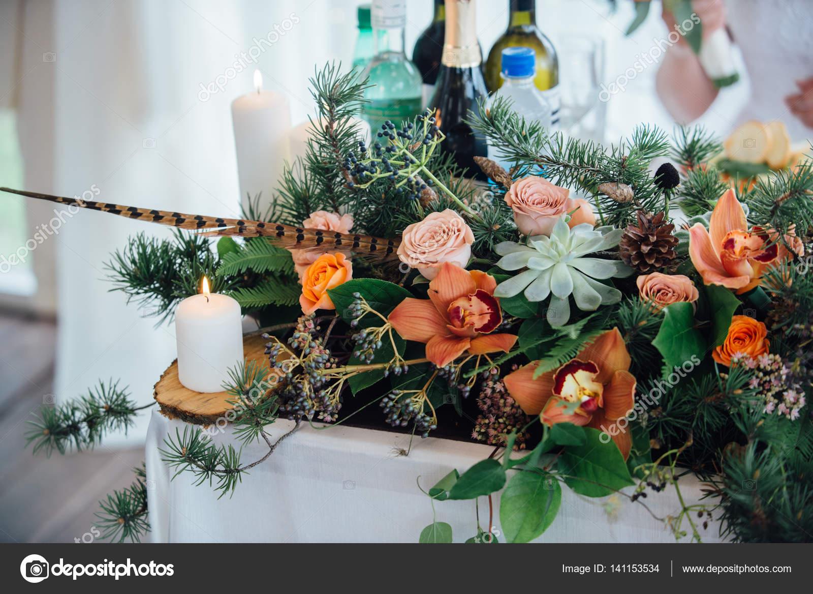 Schone Hochzeit Dekoration Herbst Hochzeit Stockfoto