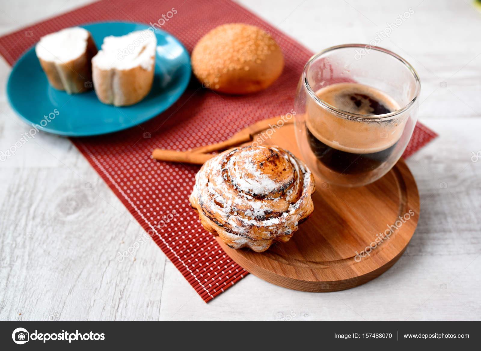Guten Morgen Konzept Frühstück Begleitet Von Köstlichen