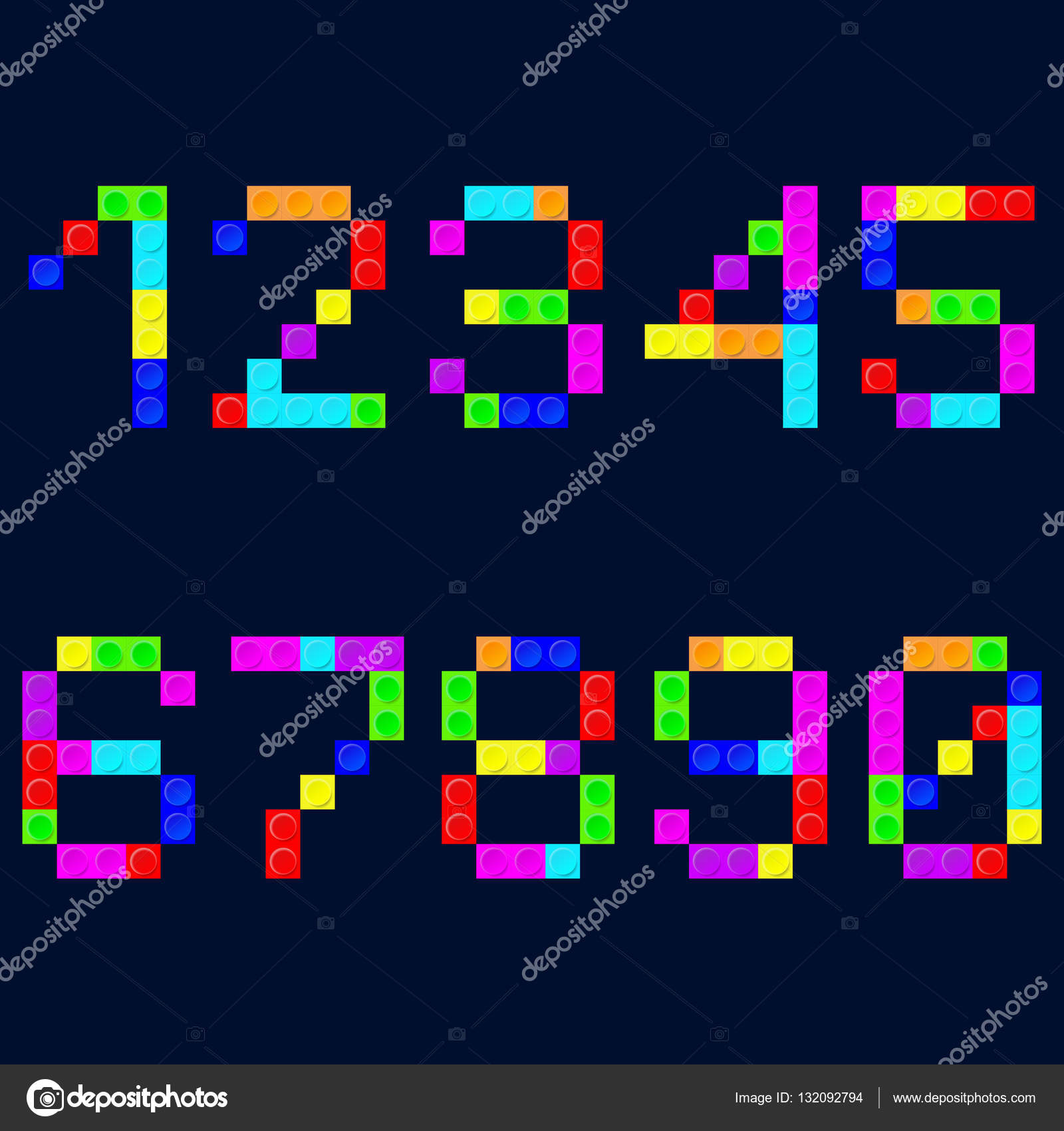 Tetris digital uhr number stock vector podsolnukh 132092794 colorful tetris blocks number on the background vector illustration vector by podsolnukh ccuart Image collections