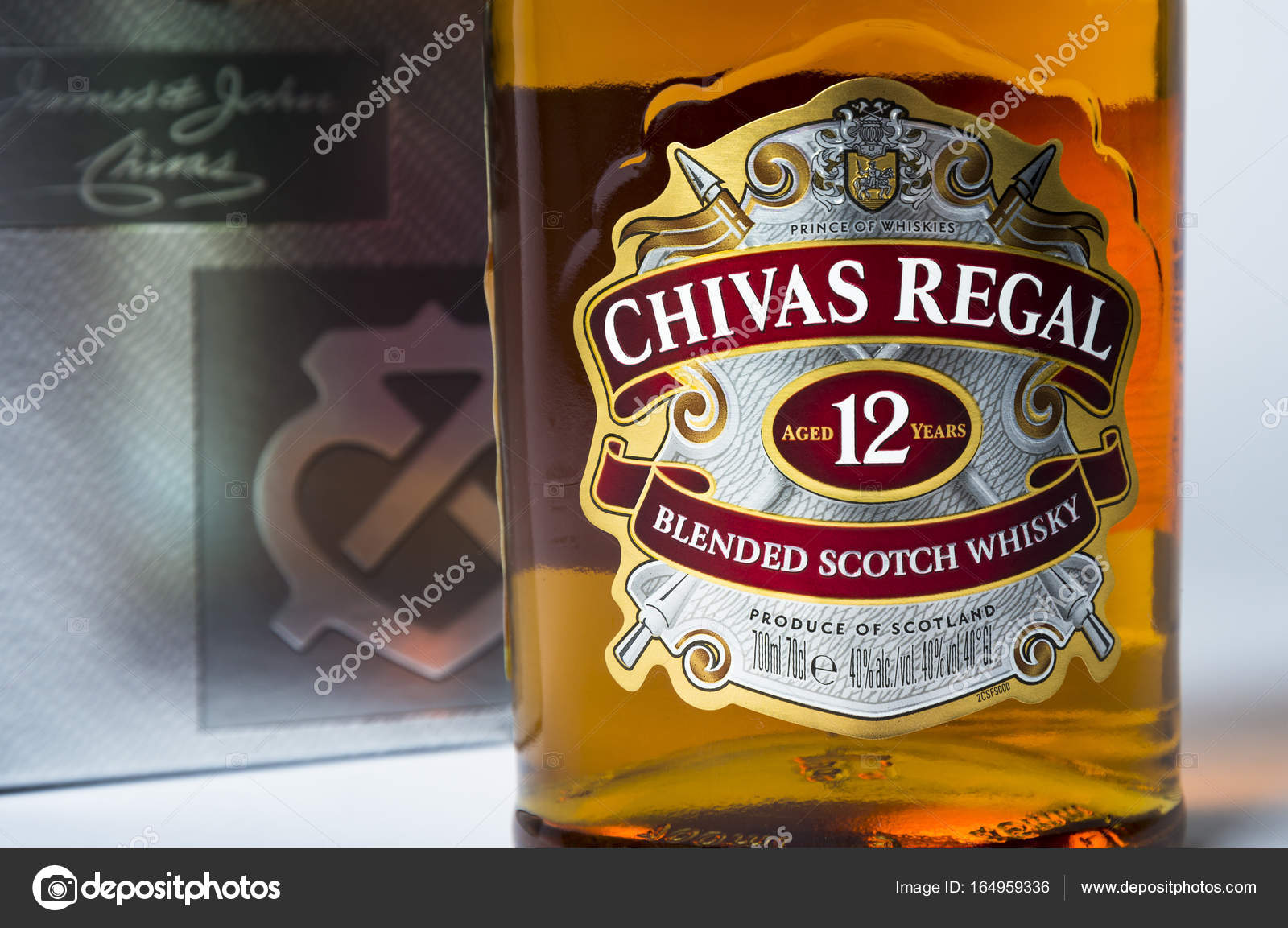 Studio shot of a bottle of chivas regal on white background stock studio shot of a bottle of chivas regal on white background stock photo voltagebd