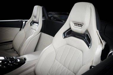 Race seats in modern luxury cabri car