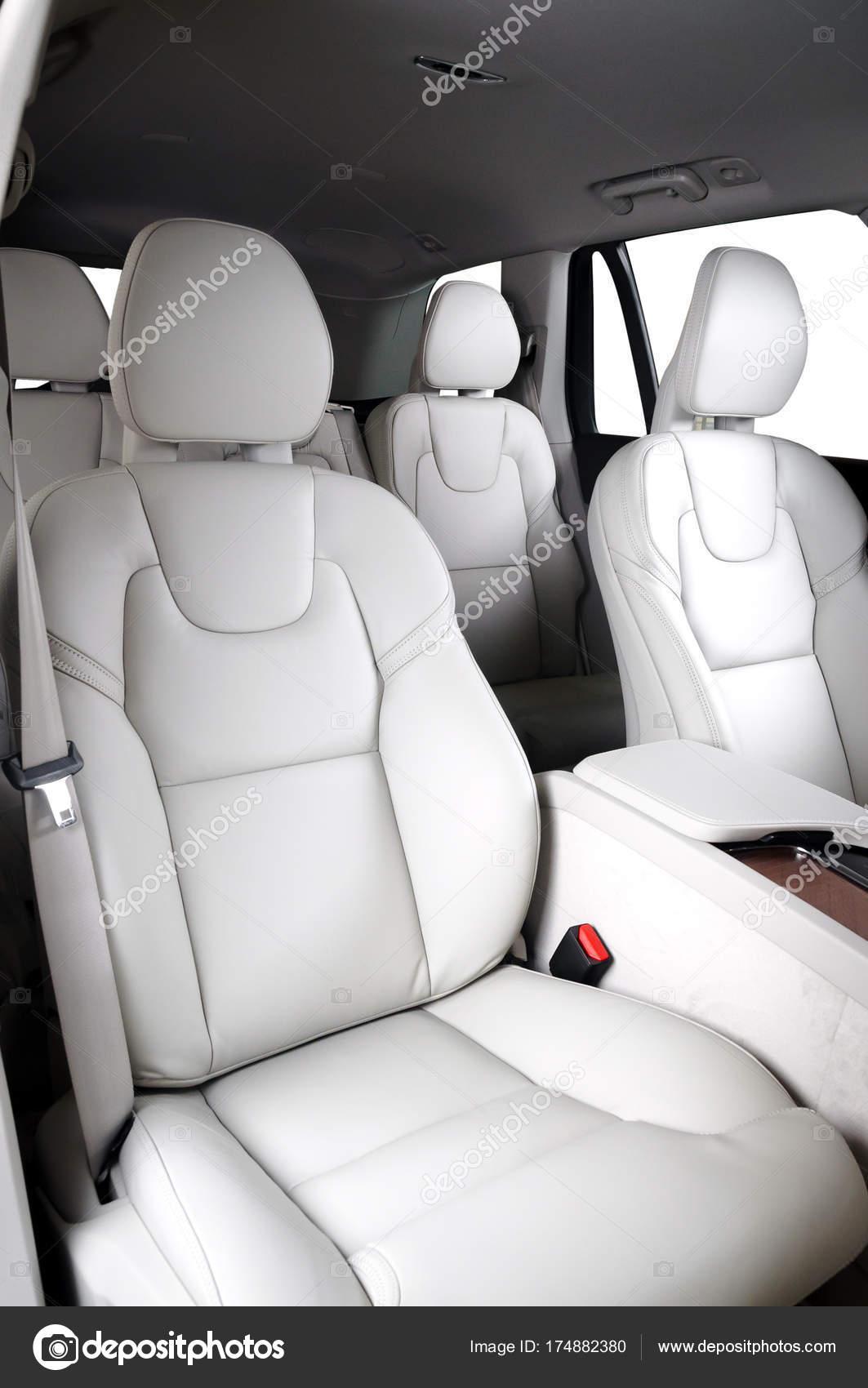 Luxury Car Interior Prestige Modern Car Comfortable Leather Seats White Stock Photo Image By C Gargantiopa1 174882380
