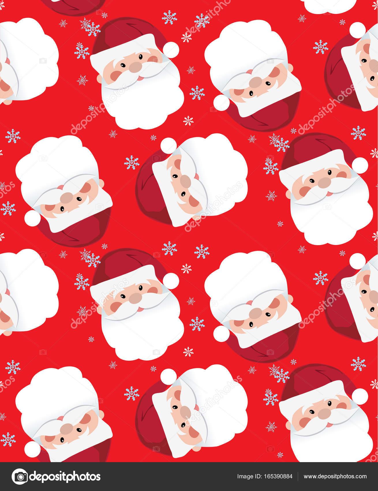 Santa Claus icon. Santa Claus face in flat design. Christmas card ...