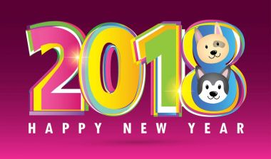 Happy new year 2018: dog
