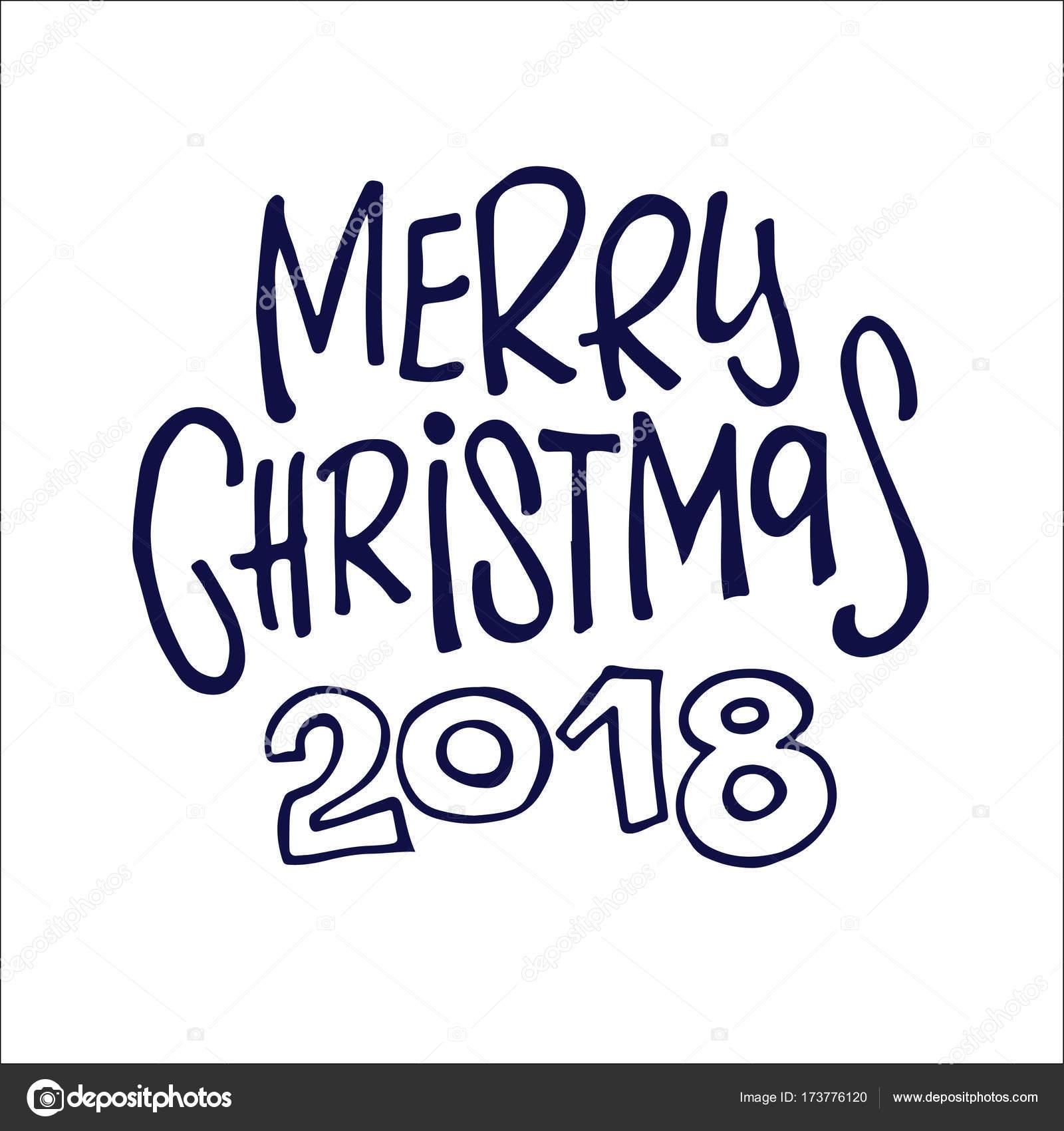 Hand gezeichnet Doodle Schriftzug - frohes neues Jahr 2018! Frohe ...