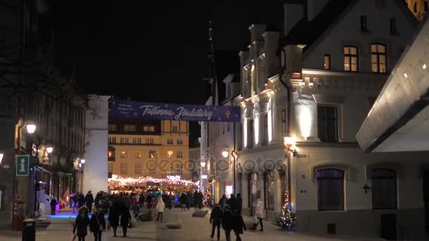 Tallinn, Estonia-December 25,2017: Movement On Festive Christmas Market