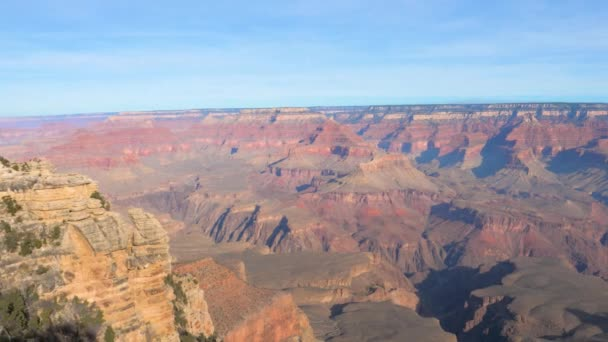 Pan Shot Right To Left Of Grand Canyon National Park On Colorado River Arizona