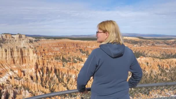 A Mature Fat Woman Admires The Natural Beauty Of The Bryce Canyon