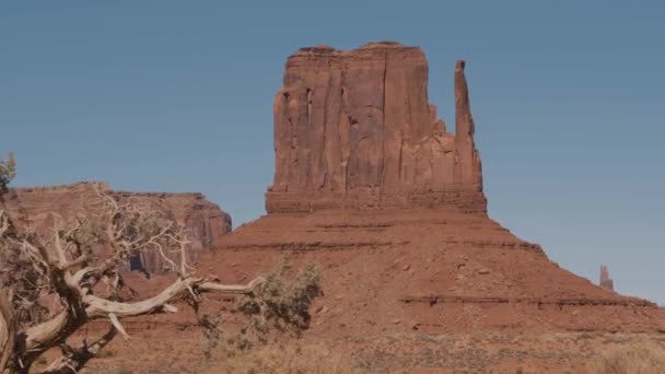 Rock Outcrop Monolith Butte Of Orange Red Color In Desert Of Monument Valley Usa