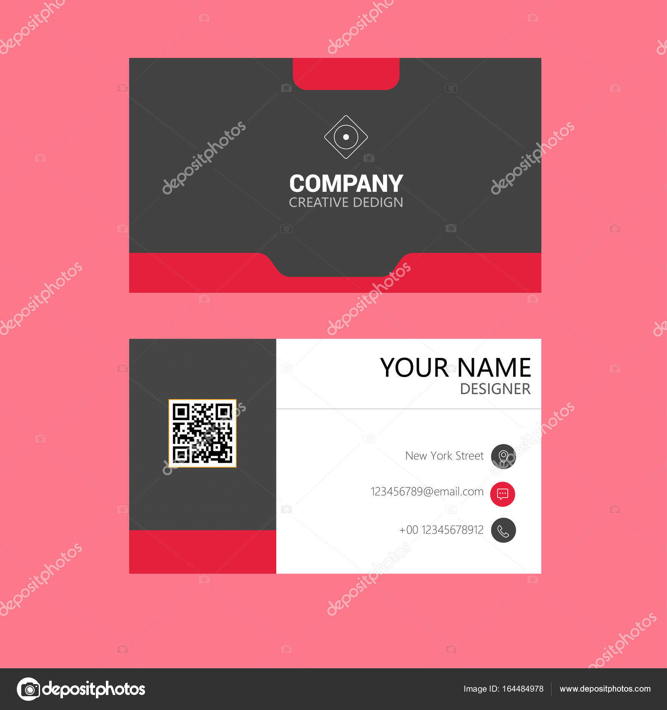 limpieza plantilla de tarjeta de negocio vector de stock