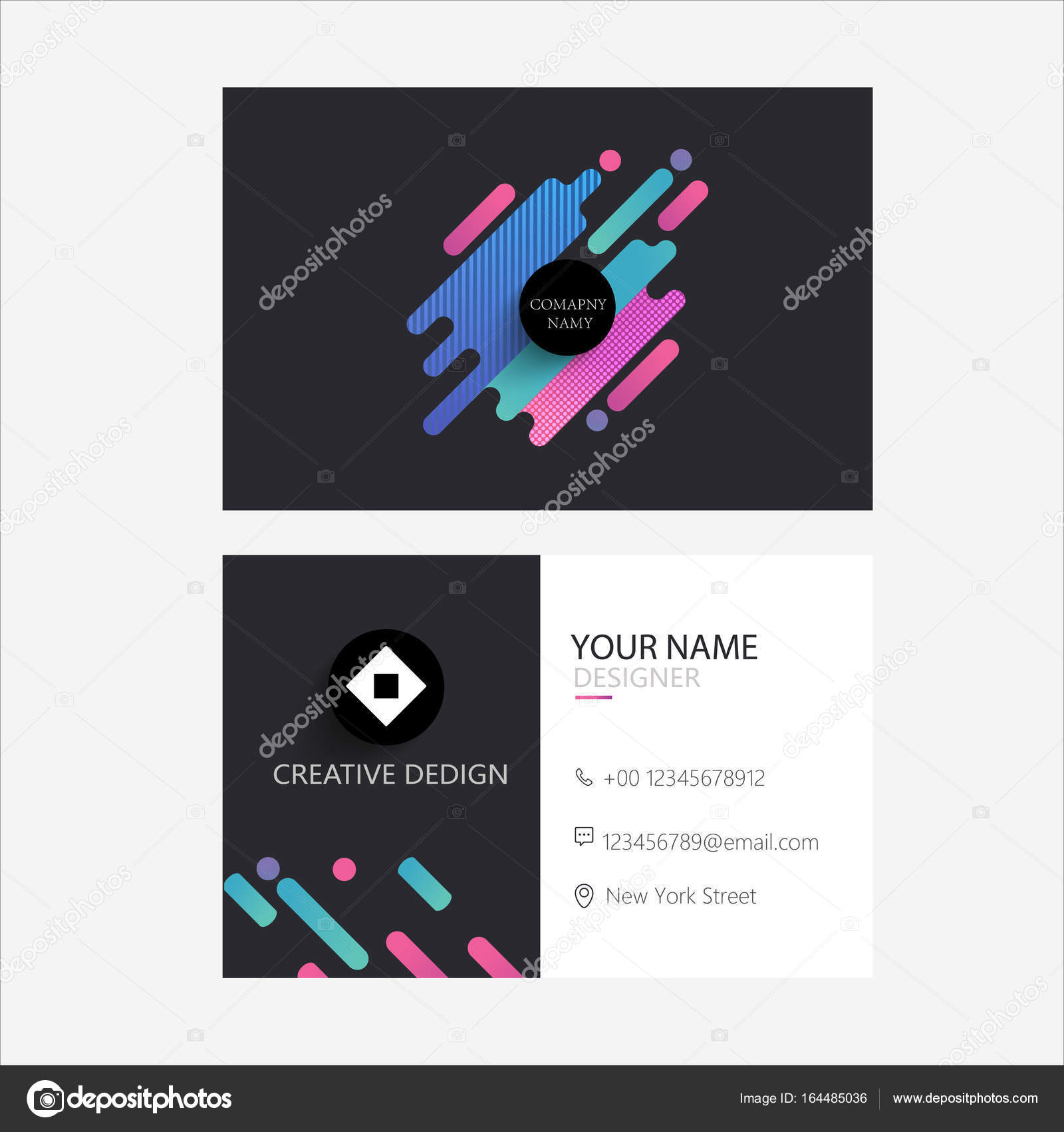 elegant business card template — Stock Vector © creativeslide ...