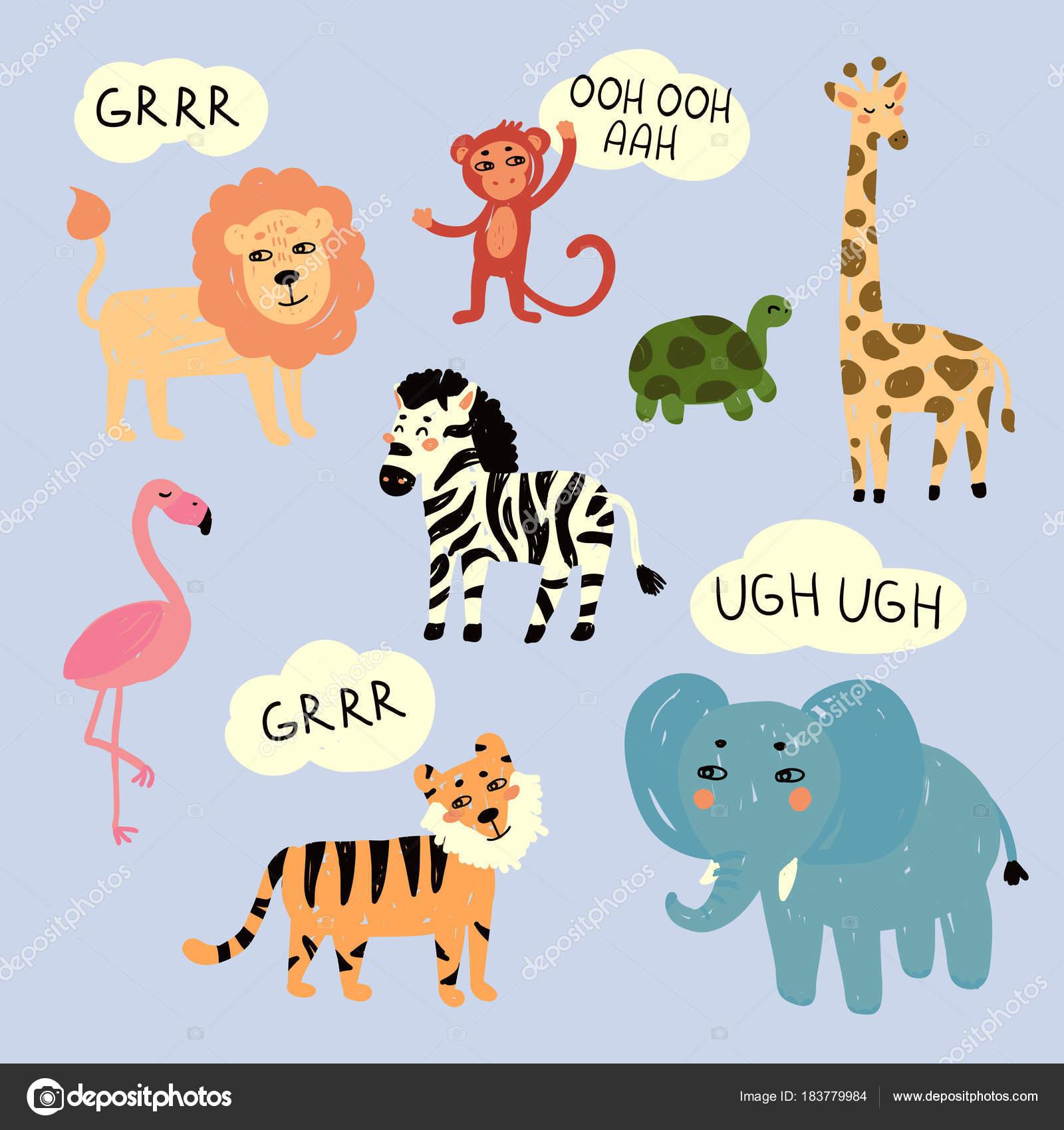 Звуки животных в зоопарке скачать