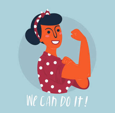 We can do it poster. Woman rights, empowerment