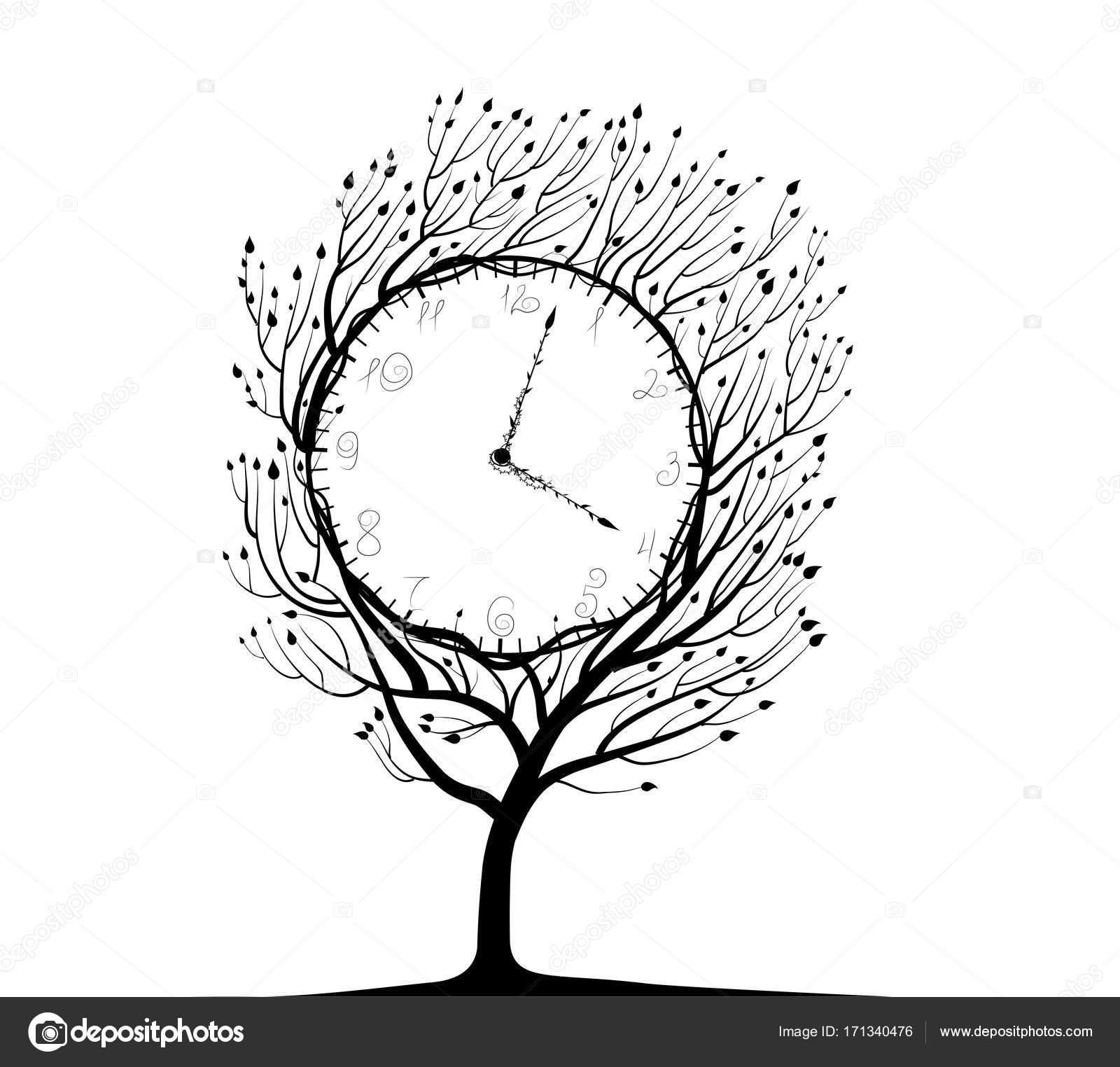árbol De La Cerradura Blanco Y Negro Vector De Stock Fonafona