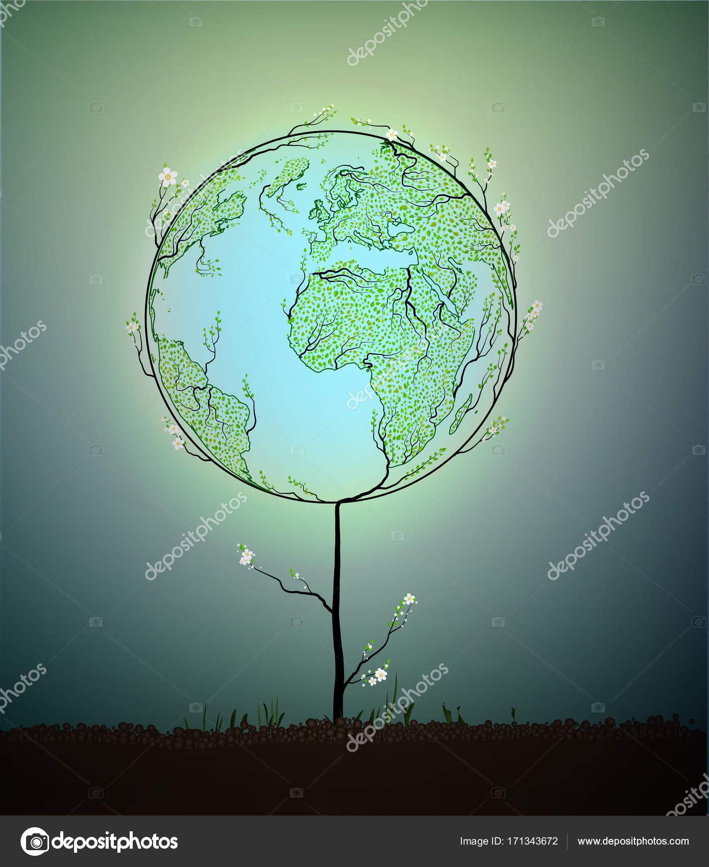 bolygó térkép Föld bolygó Térkép készült a levelek, és úgy néz ki, mint a