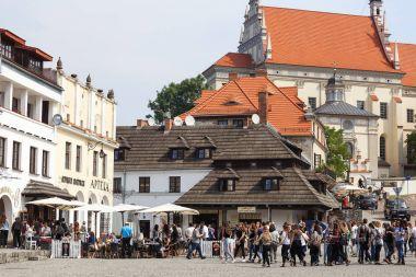 Market in old city of  Kazimierz Dolny at Vistula river, Poland
