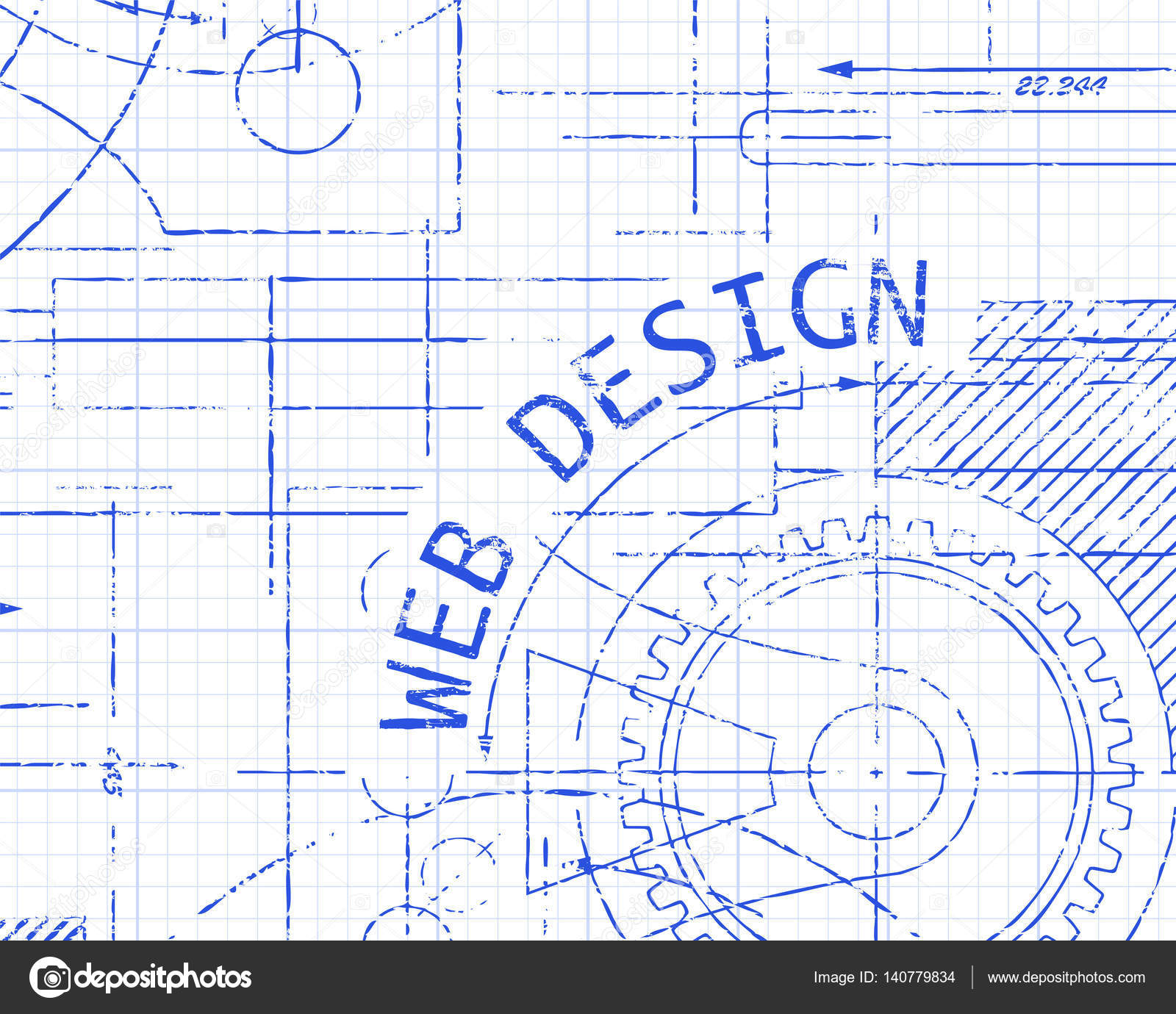 web design graph paper machine stock vector eyematrix 140779834 .