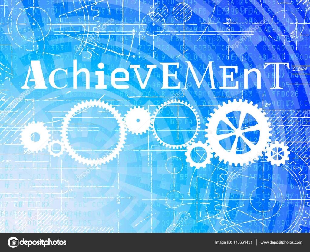 Achievement high tech background stock vector eyematrix 146661431 achievement word on high tech blueprint and data backgroun vector by eyematrix malvernweather Gallery