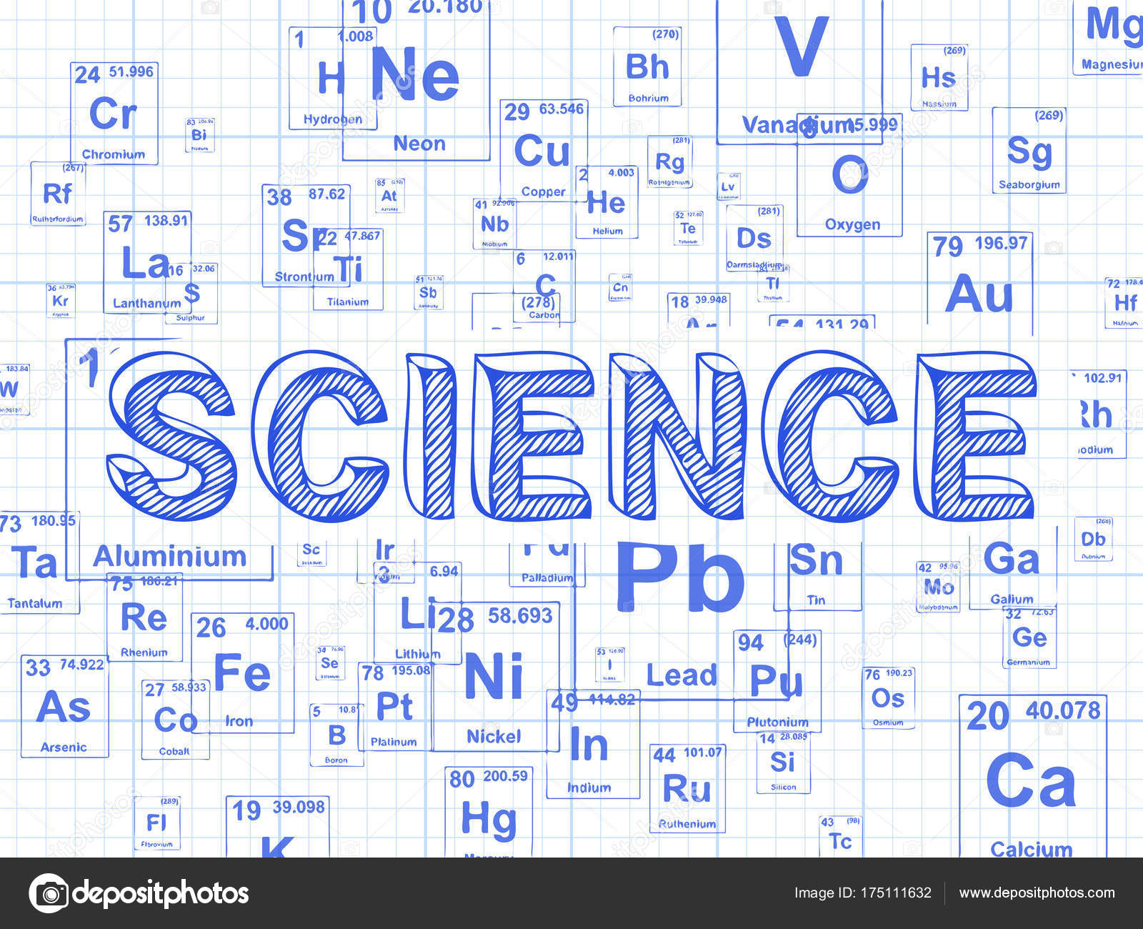 science element graph paper background stock vector eyematrix
